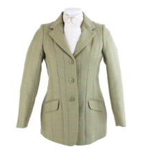SHIRES HUNTINGDON TWEED SHOW JACKET - TEENAGERS  CHILDS 32 -  LIGHT GREEN - SALE